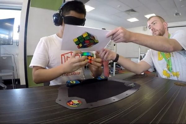 Rubik's Cube Blindfolded World Record 16.22 seconds - Jack Cai - 2019